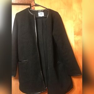 Old Navy black long blazer coat !